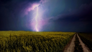 Lightning strike symbolizing the criticality of referent power among the six leadership power sources