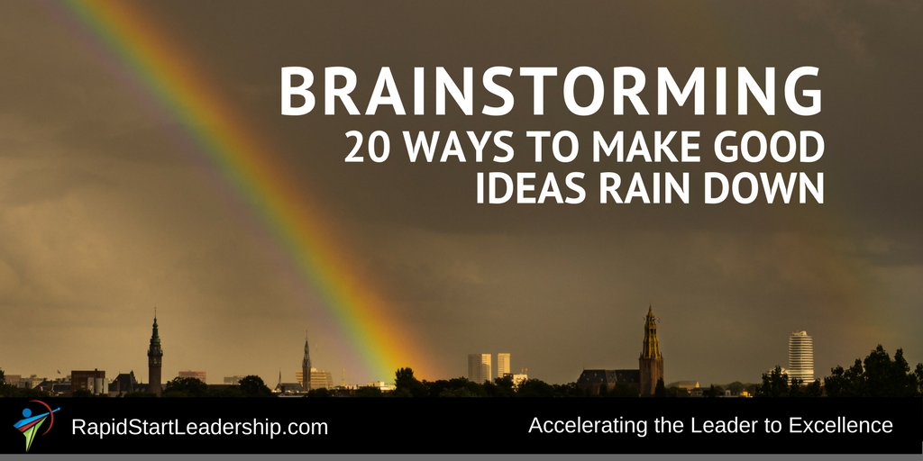 Brainstorming - 20 Ideas to Make The Ideas Rain Down