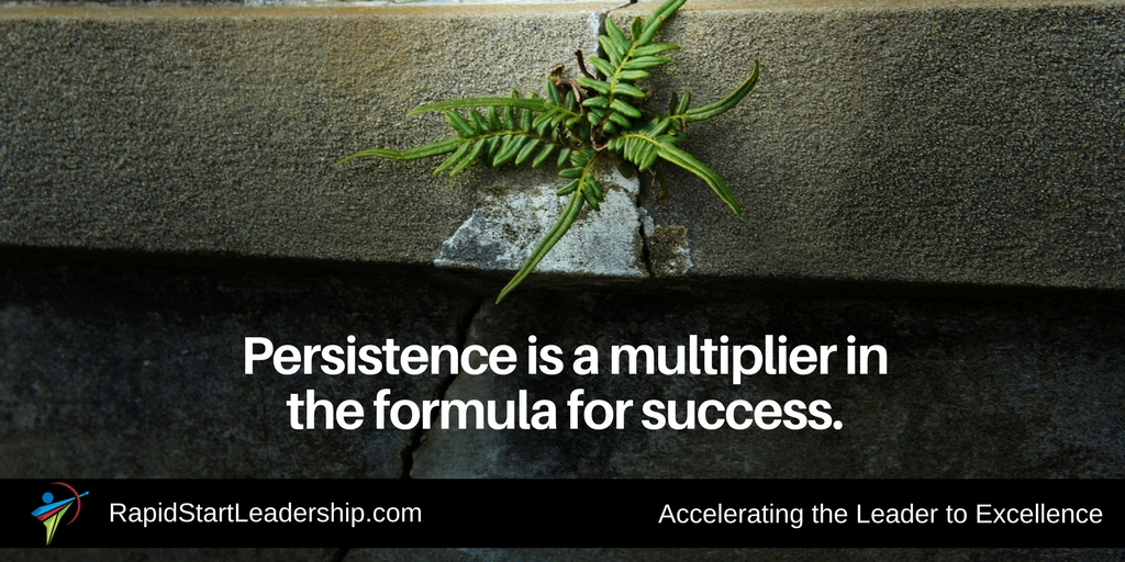 Persisitence is a Multiplier