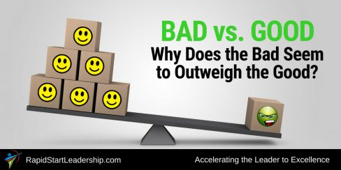 Bad vs Good: Why Does the Bad Seem to Outweight the Good?