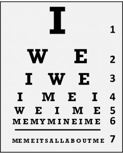 Leadership Eye Test Chart